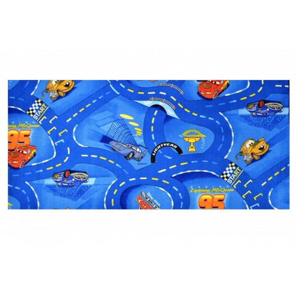 Vopi koberce Kusový koberec Cars 77 World of cars blue, kusových koberců 200x200 cm% Modrá - Vrácení do 1 roku ZDARMA vč. dopravy + možnost zaslání vzorku zdarma