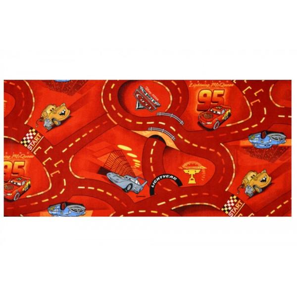 Kusový koberec The World of Cars 10 červený