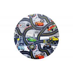 Kusový koberec The World of Cars 97 šedý kulatý