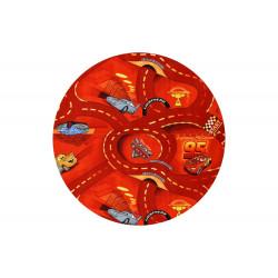 Kusový koberec The World of Cars 10 červený kulatý