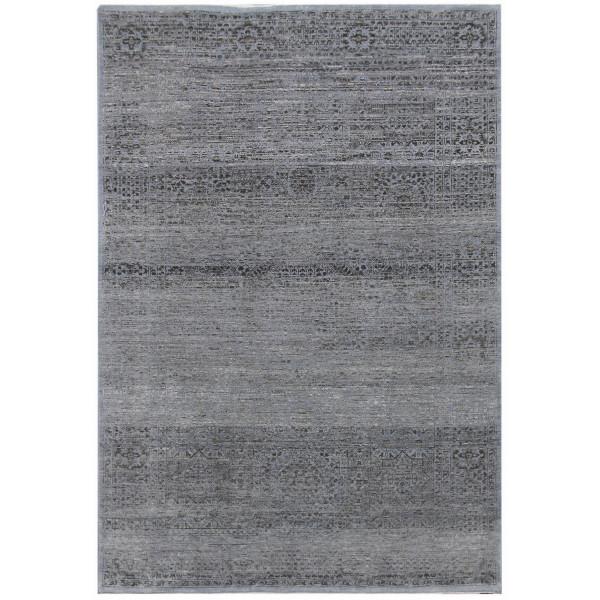 Diamond Carpets koberce Ručně vázaný kusový koberec Diamond DC-MAMLOOK jeans blue/black, koberců 245x305 Šedá - Vrácení do 1 roku ZDARMA