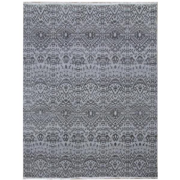 Diamond Carpets koberce Ručně vázaný kusový koberec Diamond DC-EKT L silver/black, koberců 245x305 Šedá - Vrácení do 1 roku ZDARMA