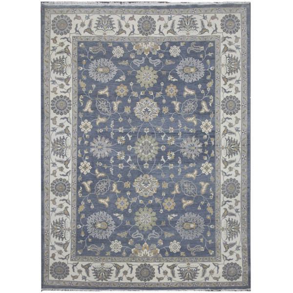 Ručně vázaný kusový koberec Diamond DC-ZIGLER Jeans blue/ivory