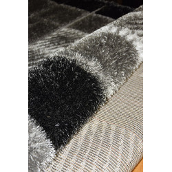 Kusový koberec Seher 3D 2615 Black Grey