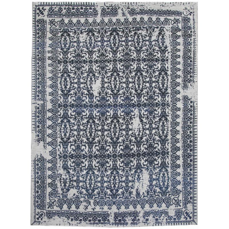 Ručně vázaný kusový koberec Diamond DC-JK 7 Silver/denim
