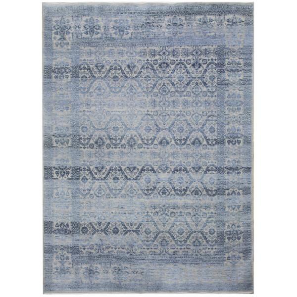 Ručně vázaný kusový koberec Diamond DC-HALI B Silver/blue