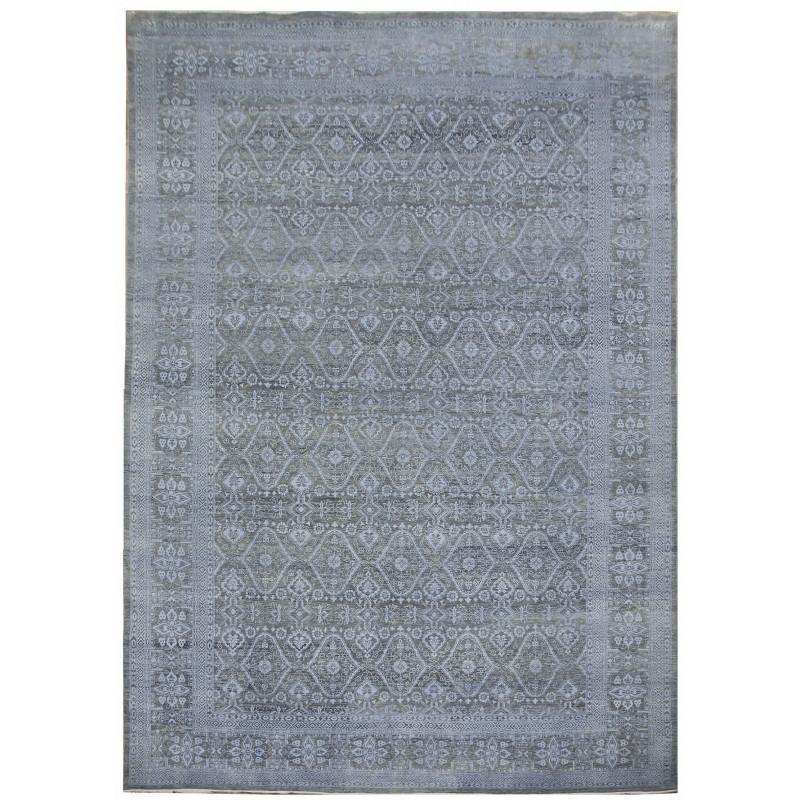 Ručně vázaný kusový koberec Diamond DC-HALI B Light grey/blue