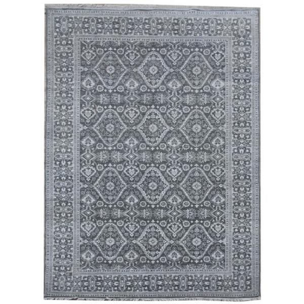Diamond Carpets koberce Ručně vázaný kusový koberec Diamond DC-HALI B Grey/silver, 180x275% Šedá - Vrácení do 1 roku ZDARMA vč. dopravy