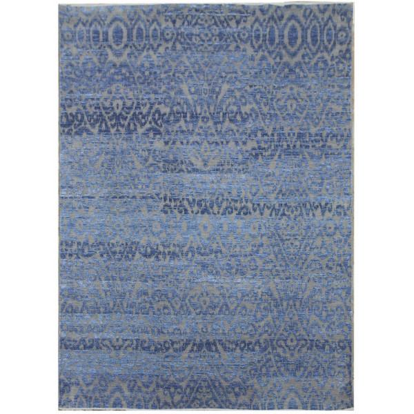 Ručně vázaný kusový koberec Diamond DC-EKT 6 Silver/light blue