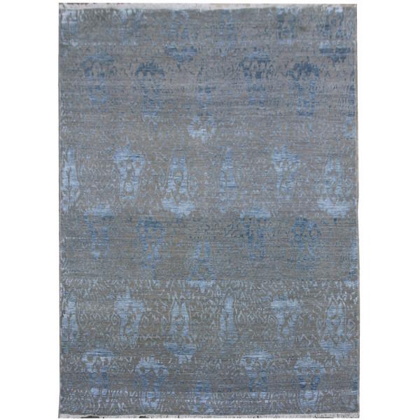Diamond Carpets koberce Ručně vázaný kusový koberec Diamond DC-EKT 10 Silver/blue, koberců 180x275 Šedá - Vrácení do 1 roku ZDARMA