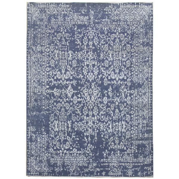 Ručně vázaný kusový koberec Diamond DC-JK 1 Jeans blue/silver