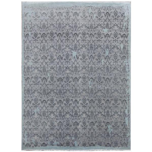 Diamond Carpets koberce Ručně vázaný kusový koberec Diamond DC-M 5 Light grey/aqua, 180x275% Šedá - Vrácení do 1 roku ZDARMA vč. dopravy