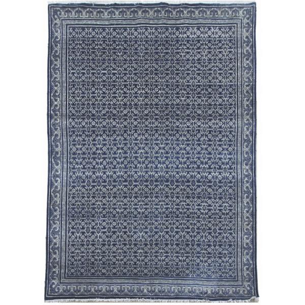 Ručně vázaný kusový koberec Diamond DC-OC Denim blue/silver
