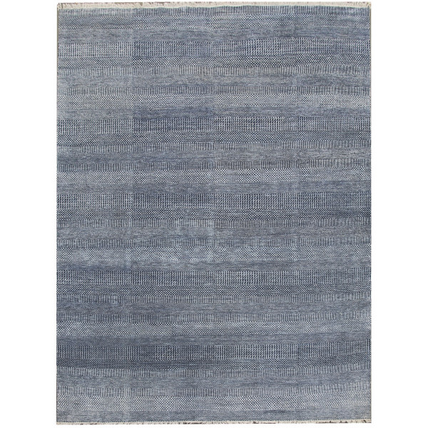 Ručně vázaný kusový koberec Diamond DC-MCN Denim blue/silver