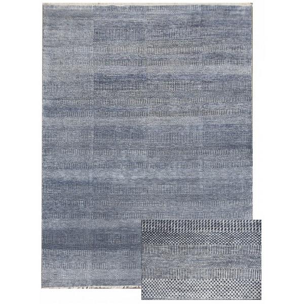 Ručně vázaný kusový koberec Diamond DC-MCN Medium blue/silver