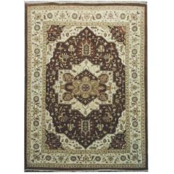 Ručně vázaný kusový koberec Diamond DC-SIRAPI Brown/ivory