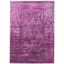 Ručně vázaný kusový koberec Diamond DC-JK 2 Purple/silver (overdye)