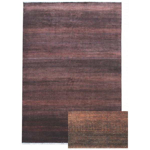Diamond Carpets koberce Ručně vázaný kusový koberec Diamond DC-MCN Black/rust, kusových koberců 180x275% Hnědá - Vrácení do 1 roku ZDARMA vč. dopravy