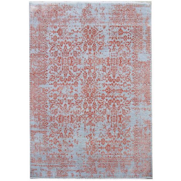Ručně vázaný kusový koberec Diamond DC-JK 1 Silver/orange