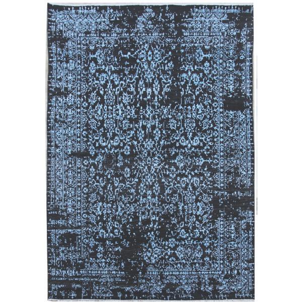 Ručně vázaný kusový koberec Diamond DC-JK 1 Denim blue/aqua