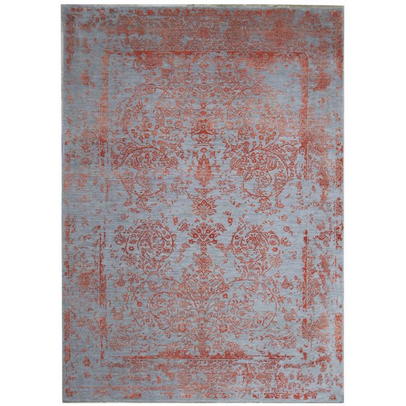 Ručně vázaný kusový koberec Diamond DC-JK ROUND Silver/orange