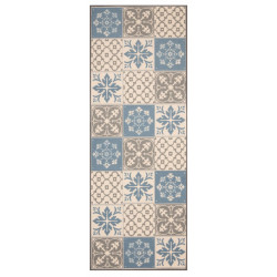 Běhoun Mare 67x180 Vibe 103492 creme brown blue