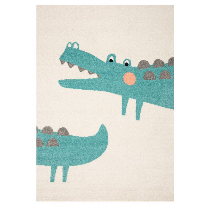 Dětský kusový koberec Vini 103481 Crocodile Jim 120x170 cm