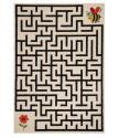 Kusový koberec Vini 103351 Labyrinth Bee & Flower 120x170 cm