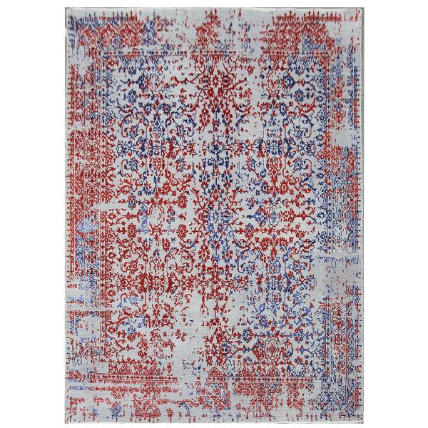 Ručně vázaný kusový koberec Diamond DC-JKM Silver/blue-red