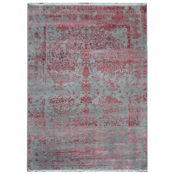 Ručně vázaný kusový koberec Diamond DC-JK ROUND Silver/pink