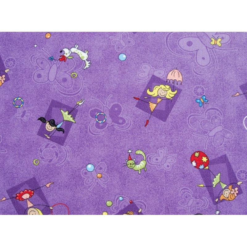 Metrážový koberec Happy / 856 fialová