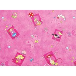 Metrážový koberec Happy / 447 růžová