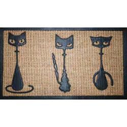Rohožka Kokos + guma 3 kočky