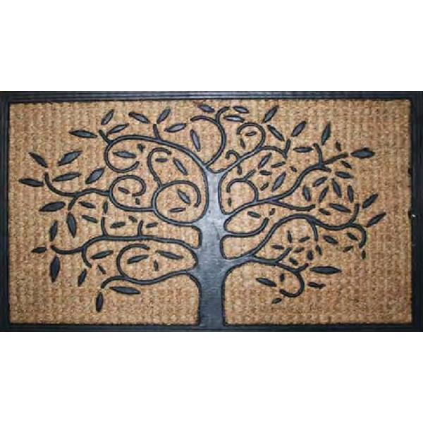 Rohožka Kokos + guma strom, koberců 40x70 Béžová - Vrácení do 1 roku ZDARMA