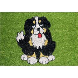 Rohožka Kokos barevná černý pes