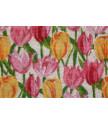 Rohožka Kokos barevná tulipány