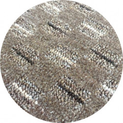 Kusový koberec Valencia hnědá kulatý