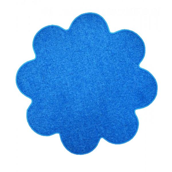 Vopi koberce Kusový koberec Color shaggy modrý kytka, kusových koberců 120x120 cm% Modrá - Vrácení do 1 roku ZDARMA vč. dopravy + možnost zaslání vzorku zdarma