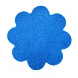 Kusový koberec Color shaggy modrý kytka