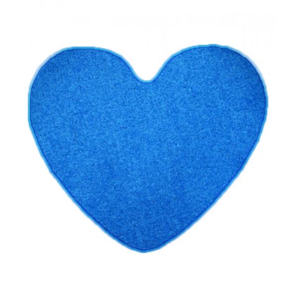Vopi koberce Kusový koberec Color shaggy modrý srdce, kusových koberců 120x120 cm% Modrá - Vrácení do 1 roku ZDARMA vč. dopravy + možnost zaslání vzorku zdarma