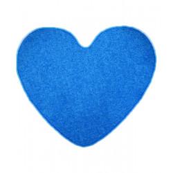 Kusový koberec Color shaggy modrý srdce
