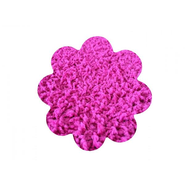 Vopi koberce Kusový koberec Color shaggy růžový kytka, kusových koberců 120x120 cm% Růžová - Vrácení do 1 roku ZDARMA vč. dopravy + možnost zaslání vzorku zdarma