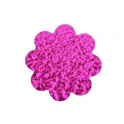 Kusový koberec Color shaggy růžový kytka