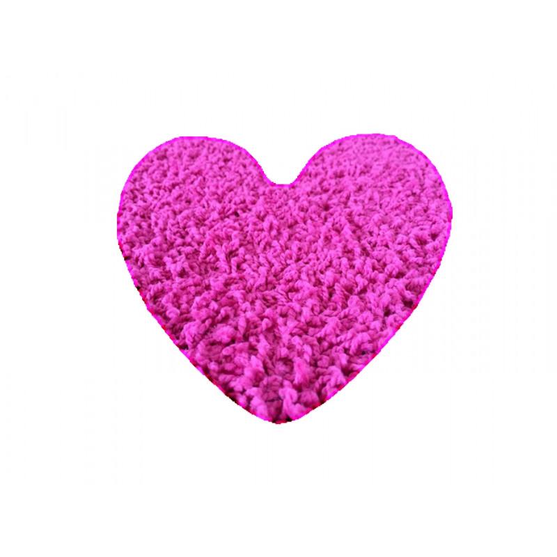 Kusový koberec Color shaggy růžový srdce