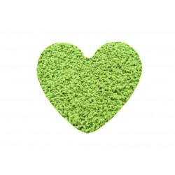 Kusový koberec Color shaggy zelený srdce
