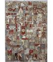 Ručně vázaný kusový koberec Diamond DC-PATCH RED MULTI