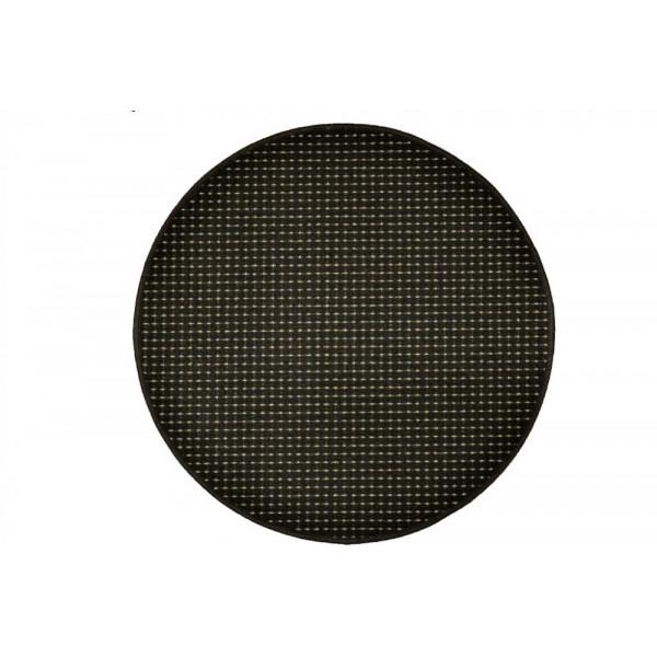 Vopi koberce Kusový koberec Birmingham antra kulatý, koberců 57x57 - kruh Černá - Vrácení do 1 roku ZDARMA