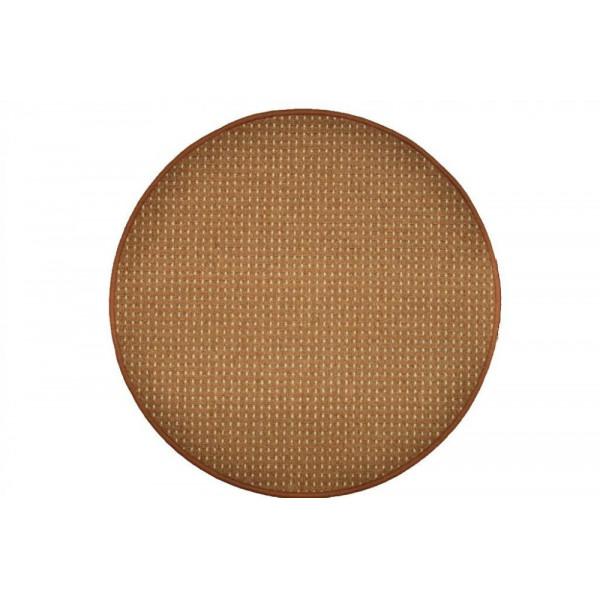 Vopi koberce Kusový koberec Birmingham hnědý kulatý, koberců 57x57 - kruh Hnědá - Vrácení do 1 roku ZDARMA
