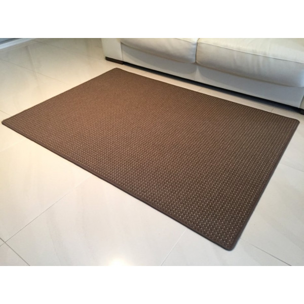 Vopi koberce Kusový koberec Birmingham hnědý, koberců 120x170 cm Hnědá - Vrácení do 1 roku ZDARMA