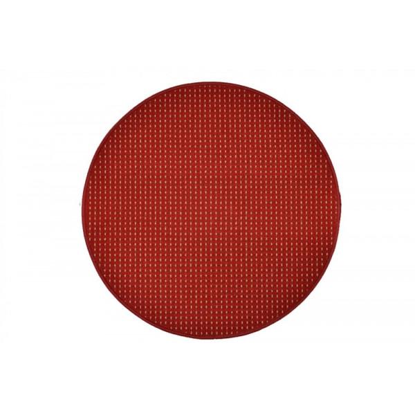 Vopi koberce Kusový koberec Birmingham vínový kulatý, koberců 80x80 cm kruh Červená - Vrácení do 1 roku ZDARMA